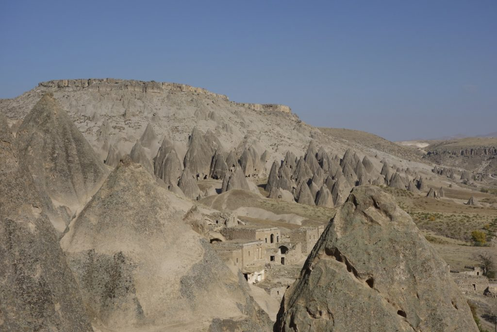 These strange rock formations were supposed to be the original film location to represent the planet Tattooine in the original Star Wars movie. The Turkish government at the time did not allow the filming to happen. Cappadocia, Turkey.